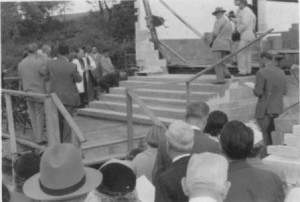 Laying of the cornerstone - September 13, 1953