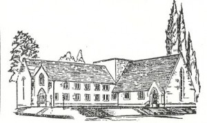 The original design for the addition to Christ Church, North Hills.